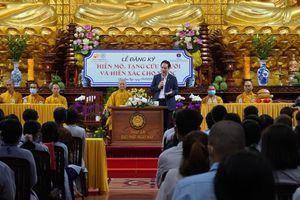 Phật tử đăng ký hiến mô tạng tại chùa Giác Ngộ