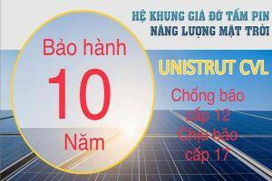 Thanh Unistrut CVL được dùng tại các dự án điện mặt trời