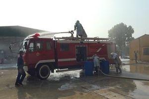 Kho 671, Cục Xăng dầu (Tổng cục Hậu cần) hợp luyện chữa cháy giàn cấp phát nhiên liệu