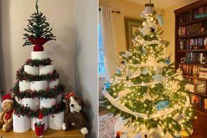 Treo khẩu trang, giấy vệ sinh lên cây thông Noel vì 'ám ảnh' với COVID-19