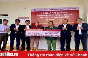 Agribank Nam Thanh Hóa hỗ trợ 120 triệu đồng xây nhà tình nghĩa