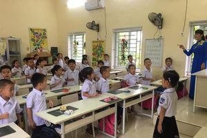 Học sinh tiểu học Ninh Bình giao lưu tài năng tiếng Anh
