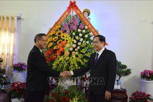 Chủ tịch Ủy ban Trung ương Mặt trận Tổ quốc Việt Nam thăm, chúc mừng chức sắc Công giáo nhân dịp Giáng sinh