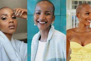 Ngỡ ngàng nhan sắc của Hoa hậu trọc đầu Nam Phi