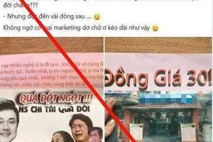 Dân mạng đòi tẩy chay quán ăn lợi dụng NS Chí Tài qua đời để quảng cáo