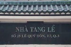 Nhà tang lễ TPHCM tại quận 3 dừng hoạt động từ ngày 29-12