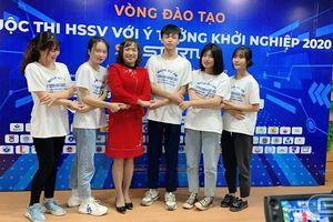Nhóm 5 học sinh Hòa Bình khởi nghiệp với 'Cửa hàng tiện ích học đường'