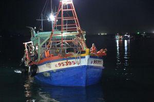 Bắt giữ hai tàu đang sang mạn dầu DO trái phép trên biển