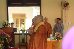 Chùa Kim Quang giỗ Tổ khai sơn, tặng quà từ thiện
