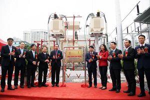 EVNHANOI gắn biển công trình ''Xây dựng trạm biến áp 110kV Minh Khai và nhánh rẽ''