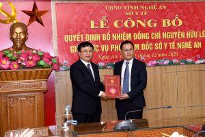 Nghệ An có thêm Phó Giám đốc Sở Y tế