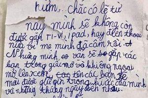 Mẹ tịch thu iPad, cậu nhóc lớp 3 viết thư ngôn tình khiến ai cũng bật cười: Trẻ con giờ lớn nhanh quá!