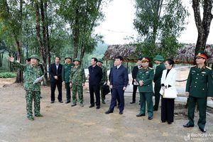 Chủ tịch UBND tỉnh kiểm tra công tác xây dựng Sở Chỉ huy diễn tập khu vực phòng thủ