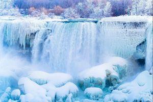 Mùa đông băng giá ở thác Niagara