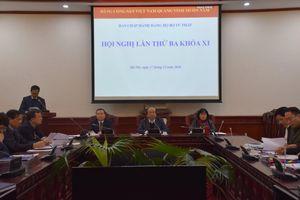 Hội nghị Ban Chấp hành Đảng bộ Bộ Tư pháp khóa XI lần 3