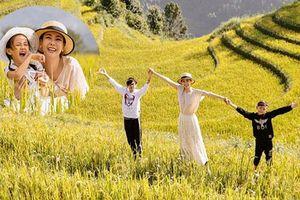 Hà Kiều Anh cùng 3 con khám phá Mù Cang Chải