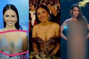 Hoa hậu bị làm mờ trên truyền hình vì váy hở bạo, riêng Mai Phương Thúy vẫn gây 'nóng mắt' vì quá gợi cảm