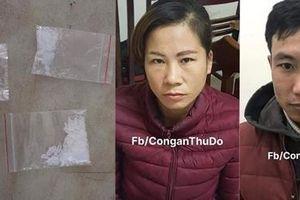 Cặp đôi bán ma túy bị bắt quả tang