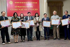 Trao Giải thưởng văn học nghệ thuật năm 2020 cho 74 tác phẩm xuất sắc