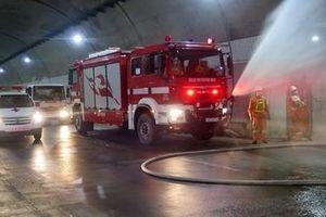 Diễn tập phòng cháy, chữa cháy, cứu nạn tại hầm đường bộ Đèo Cả