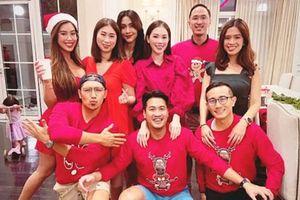 Linh Rin dự tiệc Giáng sinh với gia đình Phillip Nguyễn