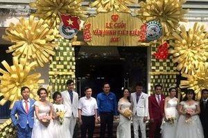 Đám cưới '0 đồng' tặng 5 cặp đôi công nhân khó khăn