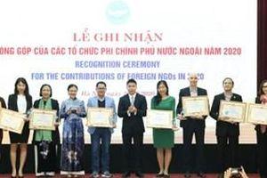 Ghi nhận đóng góp của các tổ chức phi chính phủ nước ngoài năm 2020