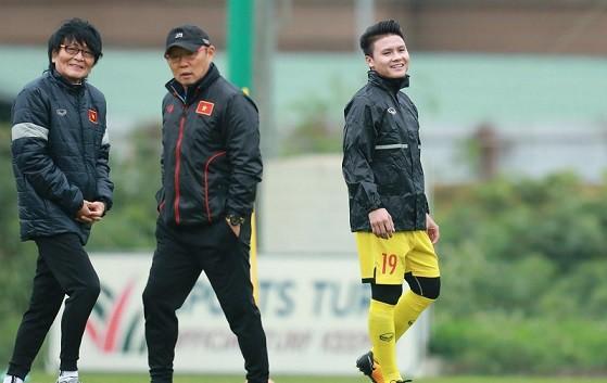 Quang Hải tập luyện trở lại cùng đội tuyển