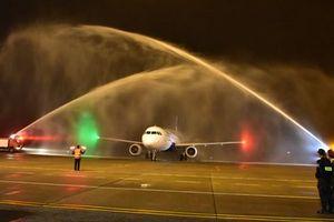 Máy bay đầu tiên của Vietravel Airlines đã hạ cánh sân bay quốc tế Phú Bài