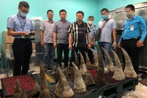 Phát hiện lô sừng tê giác hơn 90kg nhập lậu qua sân bay Tân Sơn Nhất
