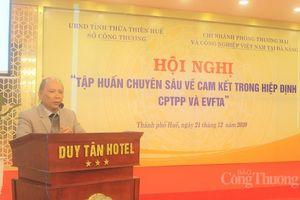 Thừa Thiên Huế: Tập huấn chuyên sâu về các Hiệp định CPTPP và EVFTA