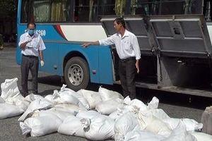 Xe khách vận chuyển gần 1,7 tấn huyết lợn không nguồn gốc