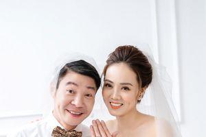 NSND Công Lý cười rạng rỡ bên vợ sắp cưới kém 15 tuổi trong bộ ảnh cưới mới hé lộ