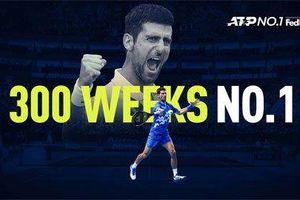 Djokovic cán mốc 300 tuần giữ ngôi số một