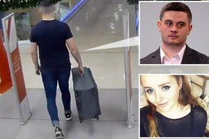 Rùng mình khoảnh khắc gã sát nhân ung dung kéo vali chứa thi thể bạn gái mới quen đi phi tang