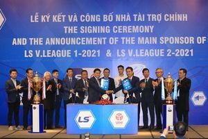 V.League 'thở phào' vì có nhà tài trợ trong 3 năm