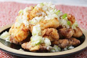 Công thức làm gà rán sốt tỏi tây