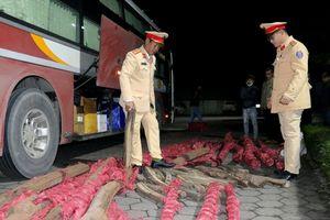 Hà Tĩnh: Bắt giữ xe khách vận chuyển gần 1 tấn gỗ trắc