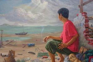 50 năm nghệ thuật sơn dầu và tranh in Lê Huy Tiếp