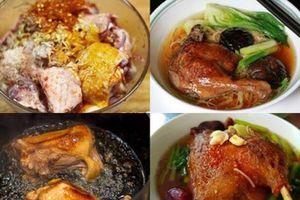 Công thức nấu mì vịt tiềm chuẩn vị Trung Hoa