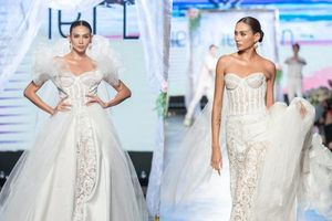 Siêu mẫu Võ Hoàng Yến diện váy cưới lộng lẫy