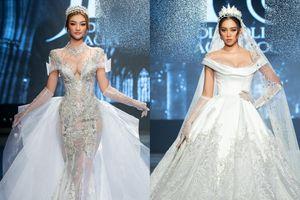 Á hậu Kiều Loan khoe khuôn ngực căng tròn, diện váy cưới xinh như mộng, nhìn tới Tiểu Vy mới bất ngờ