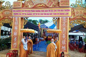 Quảng Ngãi: Bổ nhiệm trụ trì chùa Triều Long
