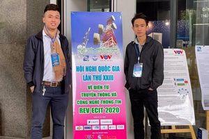 Sinh viên ATTT trình bày báo cáo khoa học tại REV-ECIT 2020