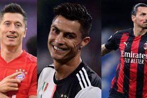 Cristiano Ronaldo dẫn đầu Top 10 cầu thủ ghi nhiều bàn thắng nhất năm 2020