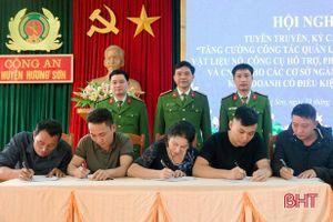 120 cơ sở ở Hương Sơn ký cam kết thực hiện nghiêm quản lý, sử dụng pháo