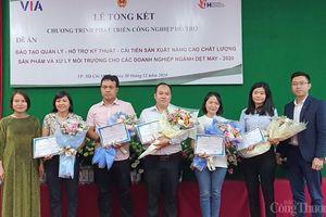 100 học viên hoàn thành khóa đào tạo hỗ trợ cải tiến sản xuất, nâng cao chất lượng sản phẩm dệt may