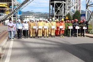 Diễn tập phương án chữa cháy và cứu nạn cứu hộ tại Nhà máy Nhiệt điện Vĩnh Tân 4