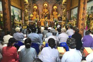 Chùa Phật Tích Viêng Chăn tổ chức lễ cầu quốc thái dân an