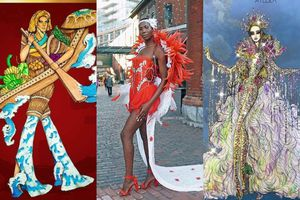 Trang phục dân tộc đối thủ Khánh Vân ở Miss Universe: 'Tia sét, quỷ lưỡi dài' sốt xình xịch